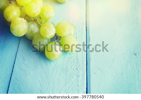 Bunch of green grapes #397780540