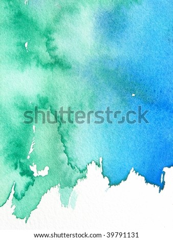 blue and green abstract watercolor background #39791131