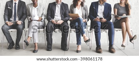 Business People Meeting Corporate Digital Device Connection Concept #398061178