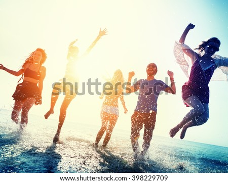 Friendship Freedom Beach Summer Holiday Concept #398229709