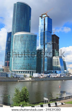 Building of new business-center in Moscow #39839380