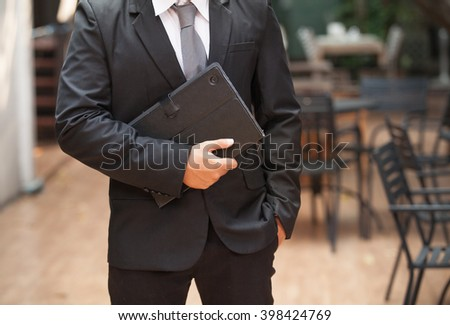 Portrait of young businessman. #398424769