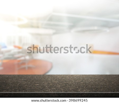 Table Top And Blur Office of The Background #398699245