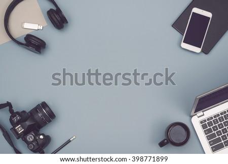 Office desk hero header image
