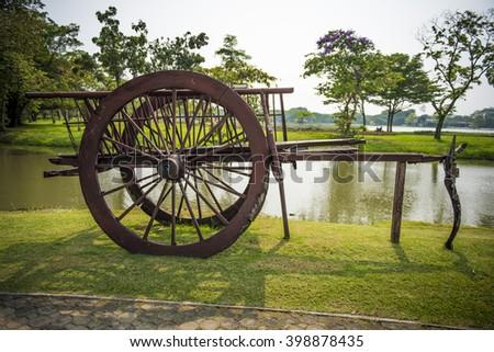 Thai Vintage Wooden Cart #398878435