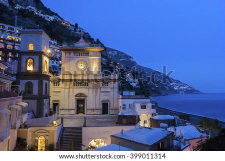 The church of Santa Maria Assunta in Positano, Italy #399011314