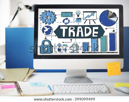 Trade Transection Business Economy Swap Concept #399099499