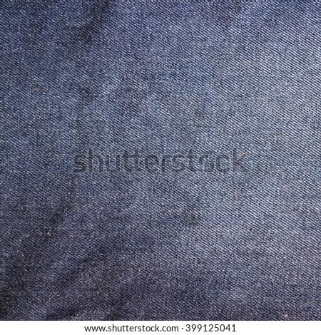Blue vintage denim jeans background. Jeans texture, fabric. #399125041
