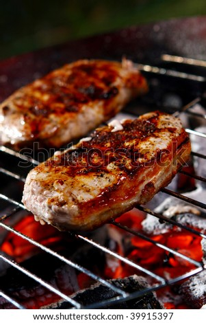 fresh grilled steak with Peper #39915397