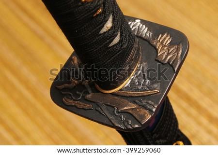 Tsuba : hand guard of Japanese sword #399259060