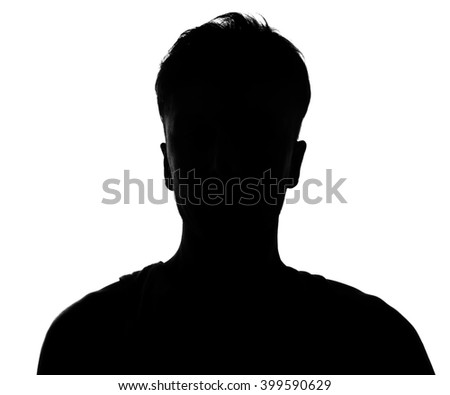 Hidden face in the shadow.male person silhouette. #399590629
