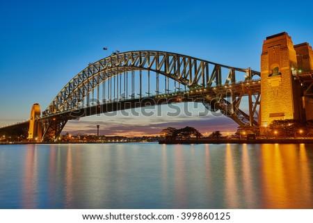 Sydney Harbour Bridge  Royalty-Free Stock Photo #399860125