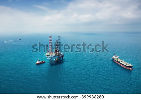 Oil rig in the gulf #399936280