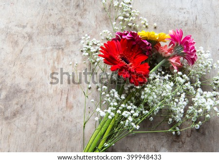 Bouquet with gerbera flowers #399948433