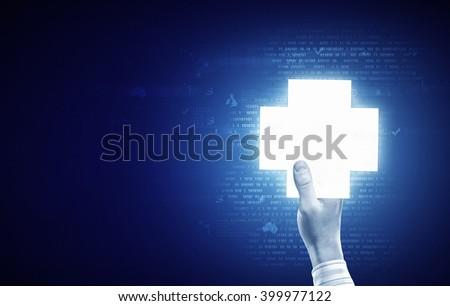 Medicine glowing icon #399977122