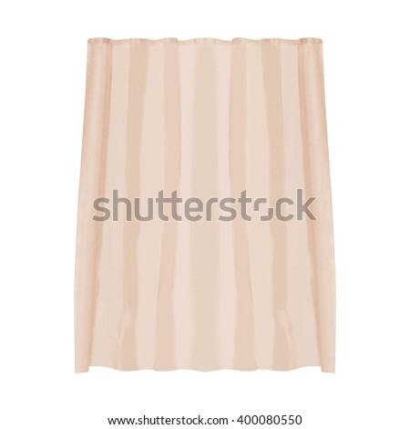shower curtain isolated #400080550