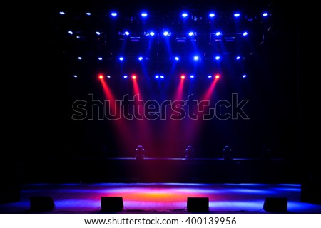 Free stage with lights Royalty-Free Stock Photo #400139956