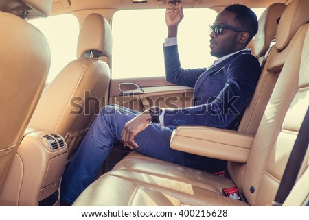 Casual black man in sunglasses. #400215628