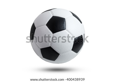 soccer ball isolated on white background. Royalty-Free Stock Photo #400438939