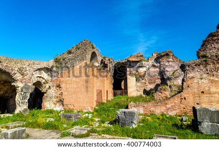 The Amphitheater of Capua, the second biggest roman amphitheater - Italy #400774003