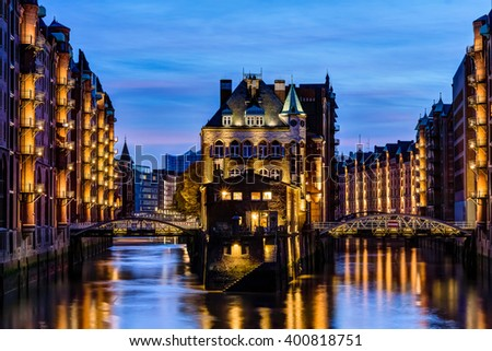HafenCity in Hamburg, Germany #400818751