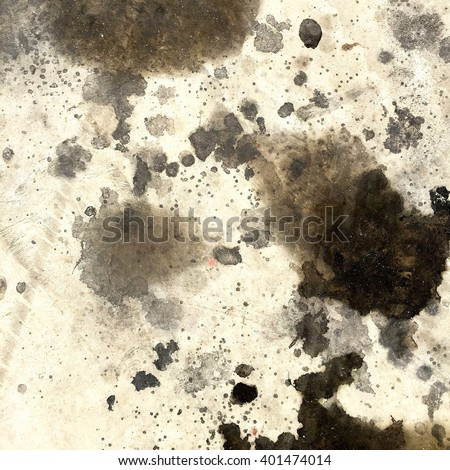 Dirty oil stain Cement floor texture Royalty-Free Stock Photo #401474014