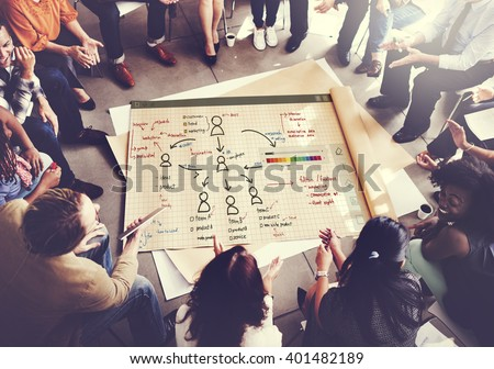 Organization Chart Management Planning Concept Royalty-Free Stock Photo #401482189