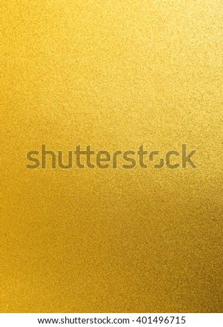 Gold foil leaf shiny wrapping paper texture background for wall paper decoration element #401496715