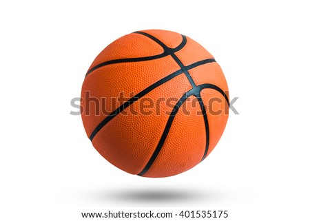 Basketball ball over white background.  Royalty-Free Stock Photo #401535175