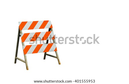 Under construction sign on white background with blank space for insert texts.