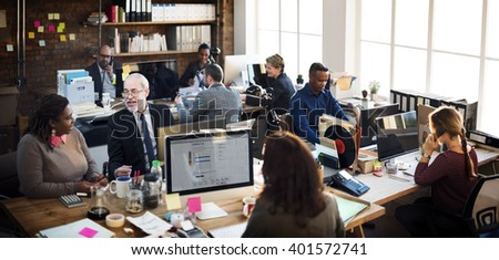 Business Team Working Office Worker Concept #401572741