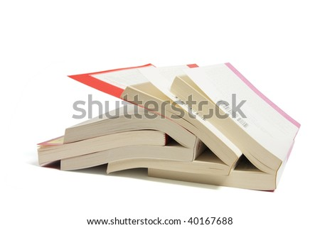 Stack of Books on White Background #40167688