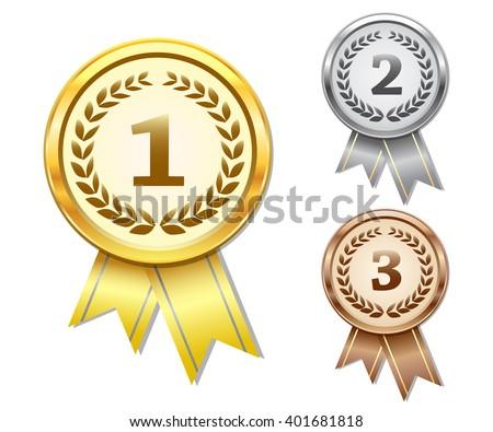Vector award medals set #401681818