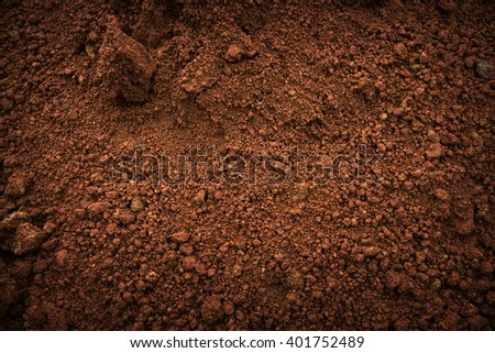 Soil on the ground as texture and background. Royalty-Free Stock Photo #401752489