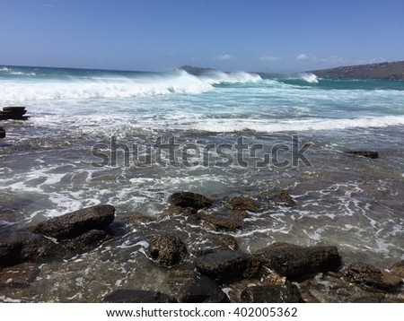 Ocean waves Royalty-Free Stock Photo #402005362