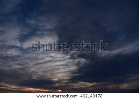 Cloudy Sunset #402143176