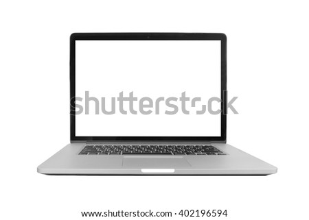 isolated laptop with blank space on white background #402196594