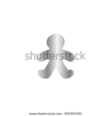 An Icon Illustration Isolated on a Background - Gingerbread Man #402464182