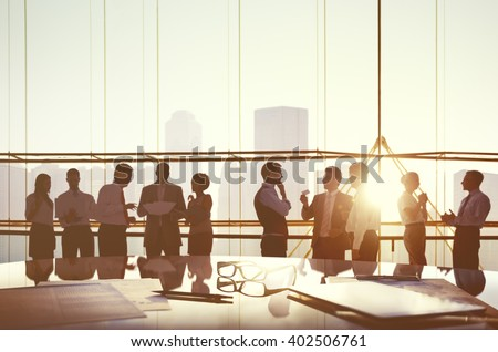 Business People Planning Meeting Conference Concept Royalty-Free Stock Photo #402506761