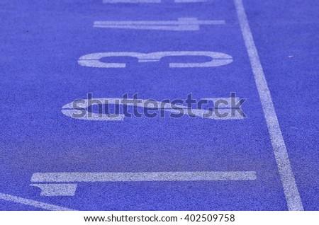 Violet Running Track #402509758