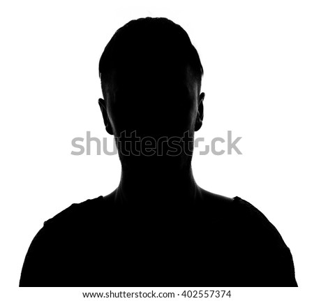 Hidden face in the shadow.male person silhouette #402557374