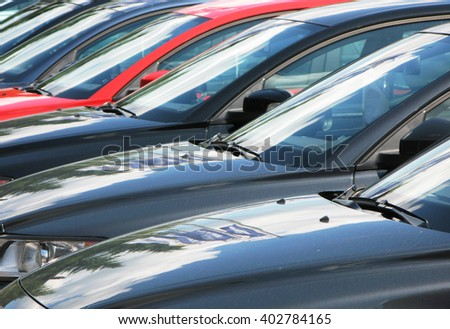Row of cars #402784165