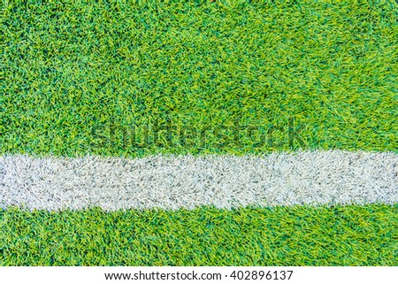 The football field line with artificial grass #402896137