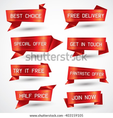 Vector Illustration : Set of banners #403159105
