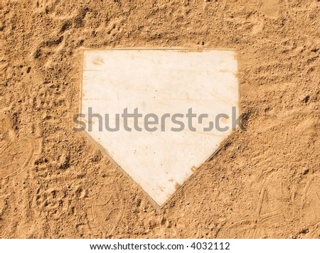 Home plate Royalty-Free Stock Photo #4032112