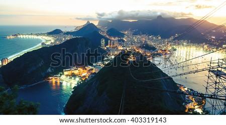 Rio de Janeiro in the night