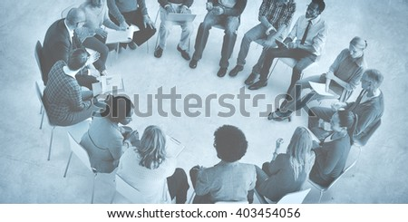 Business Team Meeting Brainstorming Strategy Concept #403454056