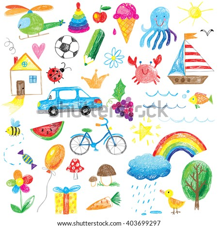 kids drawings collection