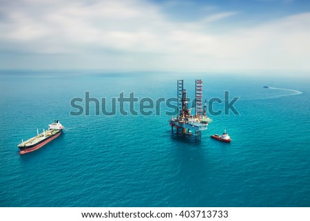 Oil rig in the gulf #403713733