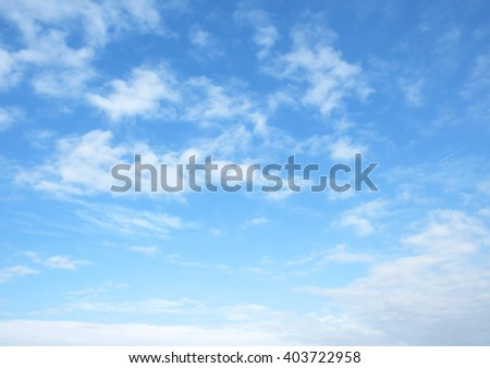 The vast blue sky and clouds sky #403722958